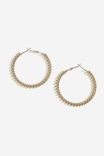 Topshop Coil Hoop Earrings