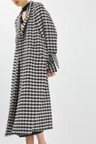 Topshop Gingham Duster Coat By Boutique