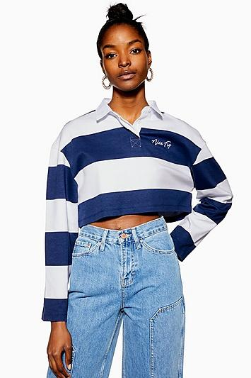 Topshop Nice Try Rugby Crop Top By Tee And Cake
