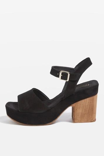 Topshop Violets Leather Sandals