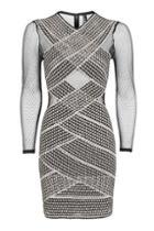Topshop Petite Long Sleeve Bandage Bodycon Dress