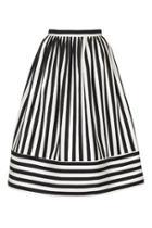 Topshop Cutabout Stripe Midi Skirt