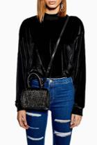 Topshop Cher Diamante Bowler Bag