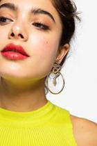 Topshop Twisted Snake Drop Earrings
