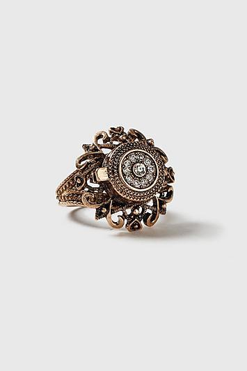 Topshop *filigree Locket Ring
