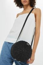 Topshop Barbar Straw Circle Cross Body Bag