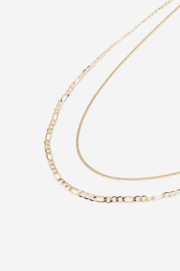 Topshop Gold Multi Chain Necklace