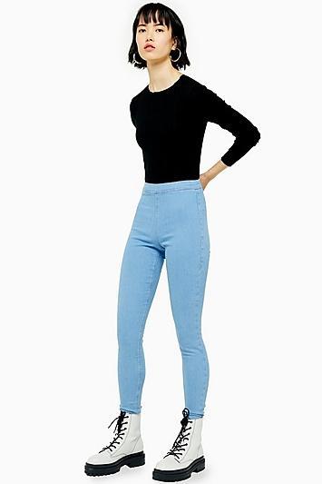 Topshop Super Skinny Flat Front Jeans