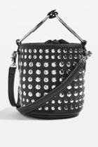 Topshop Suzie Studded Small Bucket Bag