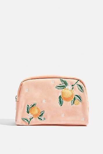 Topshop *orange Blossom Makeup Bag By Skinnydip