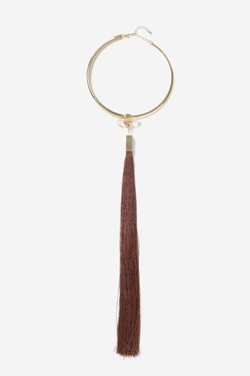 Topshop Tassel Torc Necklace