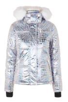 Topshop *metallic Ski Puffer Jacket By Topshop Sno