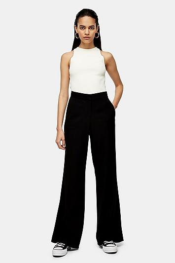 *black Low Menswear Style Trousers By Topshop Boutique