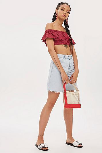 Topshop Red Perspex Bucket Bag
