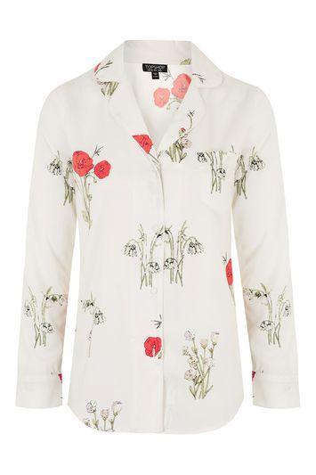Topshop Printed Pyjama Shirt
