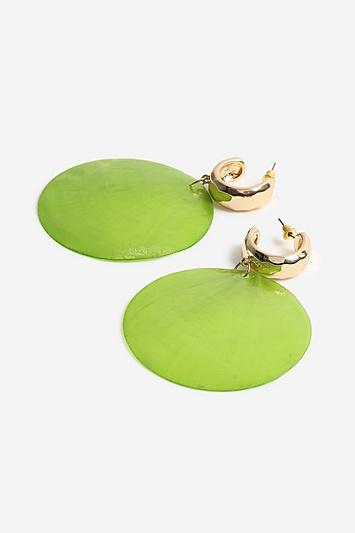 Topshop *shell Drop Hoop Earrings