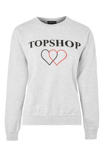 Topshop 'topshop' Slogan Sweatshirt