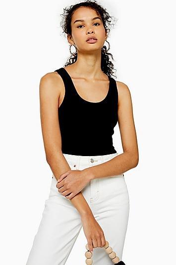 Topshop Tall Black Slim Vest