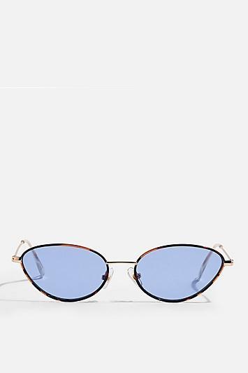 Topshop Thelma Oval Sunglasses