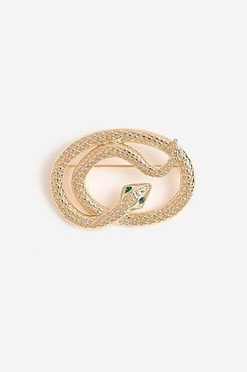 Topshop *twisted Snake Brooch