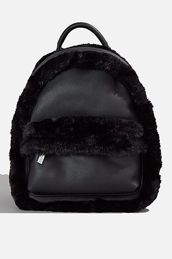 Topshop *luisa Black Backpack By Skinnydip