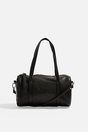 Topshop Mini Leather Bowler Bag