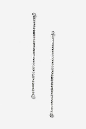 Topshop Single Rhinestone Drop Earrings