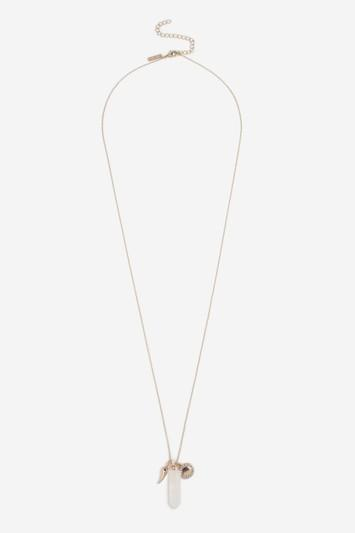 Topshop Aromatherapy Crystal Pendant Necklace