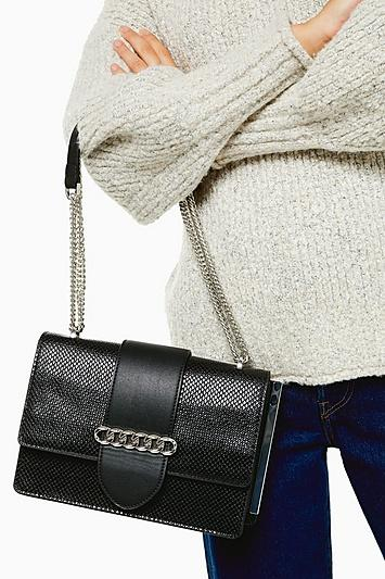 Topshop Samba Black Shoulder Bag