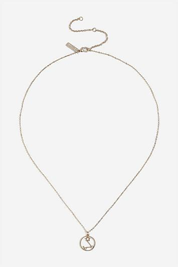 Topshop *pisces Horoscope Ditsy Necklace