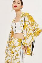 Topshop Linear Floral Shirt