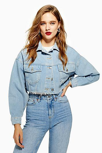 Topshop Cropped Denim Jacket