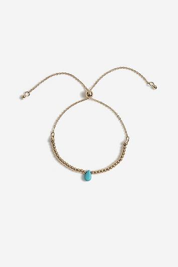 Topshop *healing Turquoise Stone Bracelet
