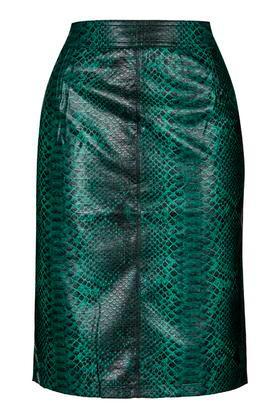 Topshop Python Pencil Skirt