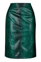 Topshop Python Pencil Skirt