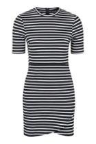 Topshop Petite Stripe Wrap Bodycon Dress