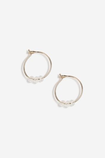 Topshop Aroma Crystal Hoop Earrings