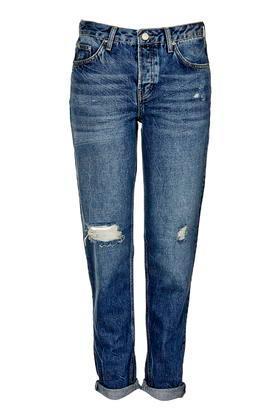 Topshop Moto Vintage Rip Hayden Boyfriend Jeans