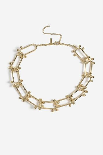 Topshop *oval Ball Link Necklace