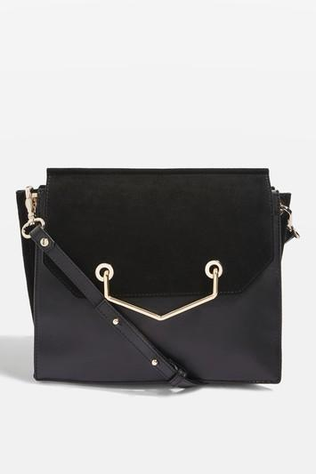 Topshop Premium Leather Shoulder Bag