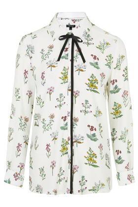Topshop Botanical Print Shirt