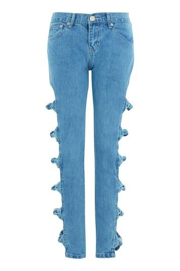 Topshop *bow Detail Jeans By Glamorous