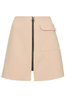 Topshop Petite Patch Pocket A-line Skirt