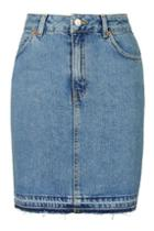 Topshop Moto Denim Highwaist Skirt