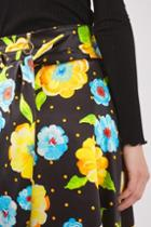 Topshop Hanky Hem Print Skirt By Boutique