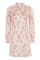 Topshop Spot Jacquard Ruffle Dress