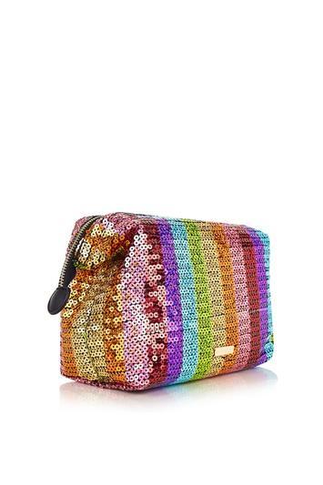 Topshop *rainbow Sequin Wash Bag By Skinnydip