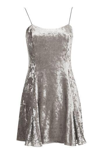 Topshop Silver Godet Dress By Topshop Finds