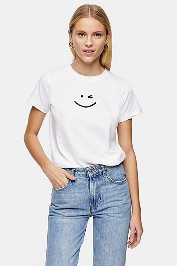 Topshop Wink Face T-shirt
