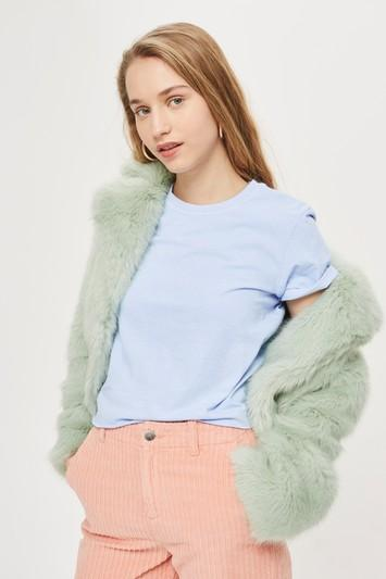 Topshop Over Dyed Cropped T-shirt